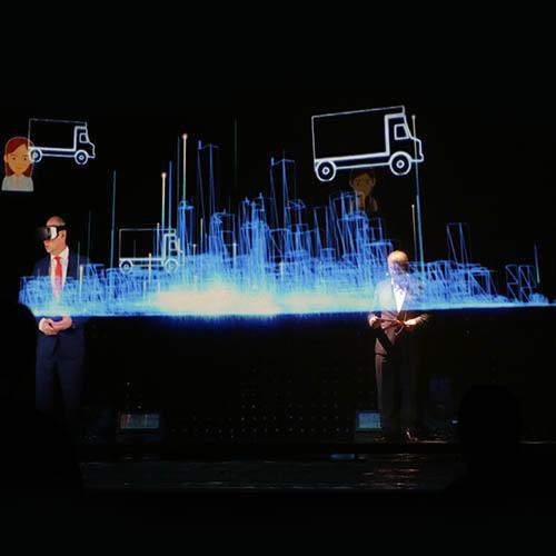 Hologramm Person Internorm